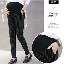 Fashion Maternity Wear 2019 Summer New Casual Comfortable Simple Slim Striped Pregnant Pants Clothes for Women QL006