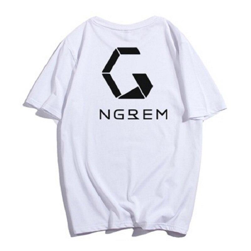 Promoção 2018 novas camisetas Em Estoque Agora Projeto Básico Mulheres E Homem Logotipo da Cópia de Algodão Branco Camiseta Verão XS-S-M-L-XL-2XL-3XL-4XL