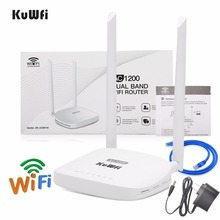KuWFi 1200Mbps Wireless Router 802.11AC Dual Band Home Wifi Router 2.4G/5G Wi-Fi Amplifier Wifi Repeater With English Version цены онлайн