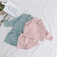Celveroso Baby Casual cloth set Boys girls jecket+short fashion Kids Outfits Autumn long sleeve boys clothes Sets Roupa Infantil