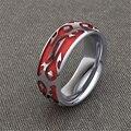LASAMERO World of Warcraft Вдохновленные Красный Орда Кольцо 925 Стерлингового Серебра Пластины Платиновые мужская Коктейль Обручальное кольцо