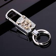 Фотография New Brand Men Women Car Key Chain Top LED multi-functional high-end Key Holder Car Key Ring Metal High Quality Keychain K1201