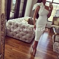 vestido bandagem curto Custom Made Saudi Arabia Elegant Short Cocktail Dresses Womens Zipper Maxi Dresses