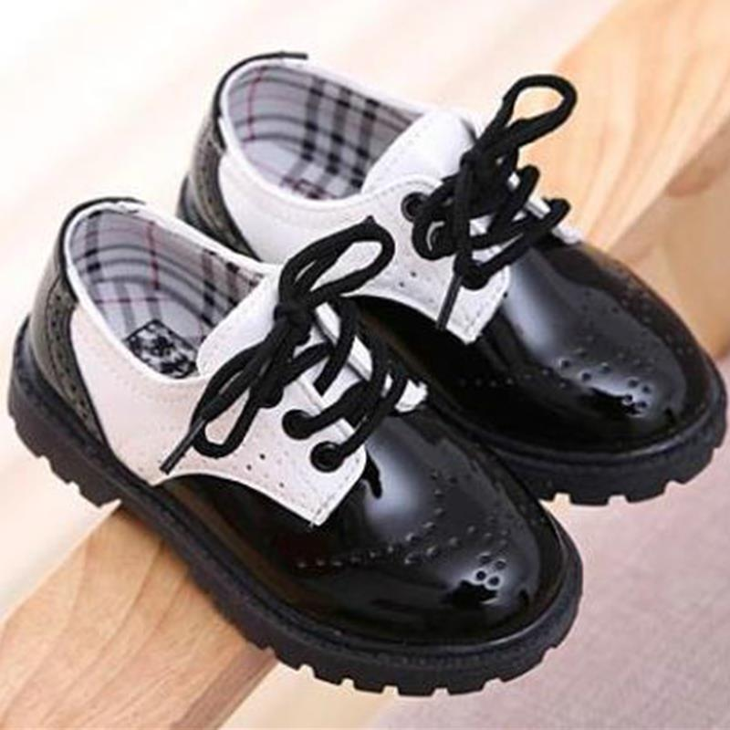 Toddler girl boots children's kids patent leather boots boys single princess spring autumn chaussure led enfant 362