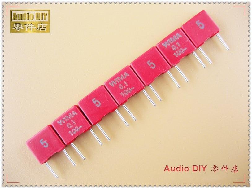 10PCS/50PCS WIMA MKS2 Series 0.1uF 100V 100v0.1uf 5% Film Capacitor 100nF 104