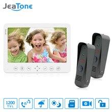 JeaTone 7″ Color Video Door Phone Doorbell Video Intercom Doorphone IR Night Vision Camera Doorbell Kit Home Apartment Security