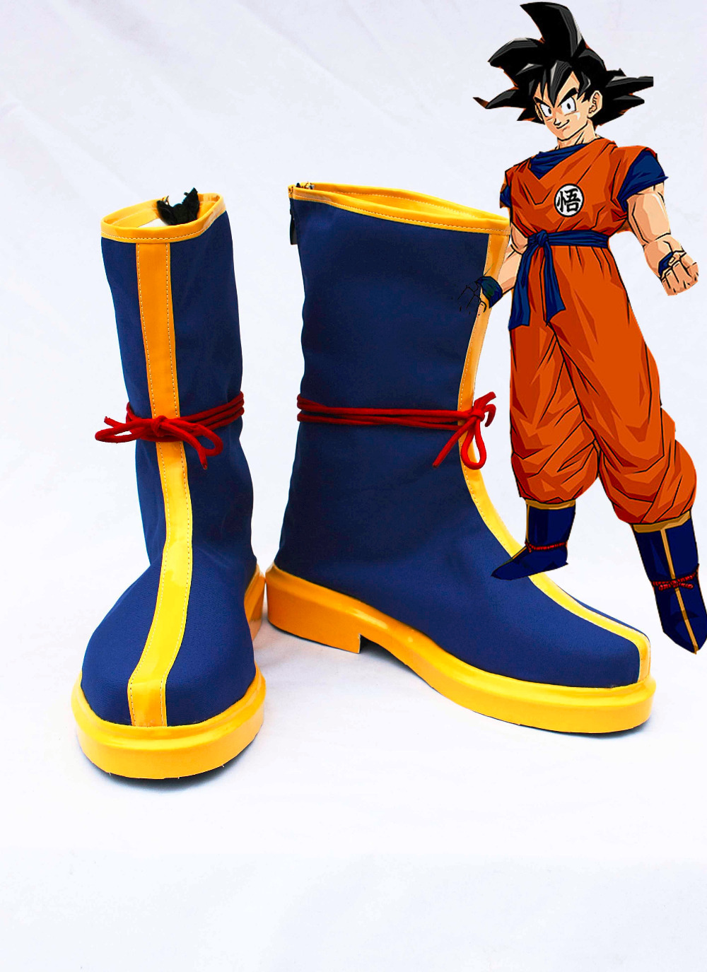Custom made goku Shoes boot from Dragon Ball Cosplay