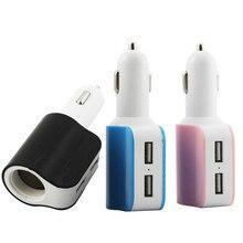 1 ШТ. 2.1A 1A 2 USB One Way Автомобильного Прикуривателя Splitter Зарядное Устройство Адаптер Питания Для Samsung Galaxy S7 Edge Бесплатная Доставка
