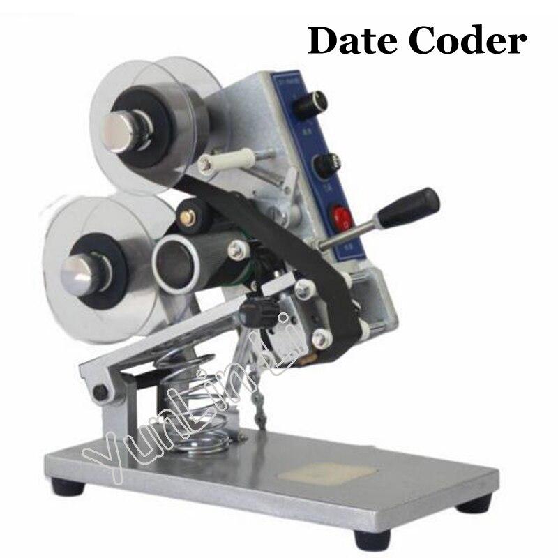 Ruban thermique imprimante Date codeur couleur ruban Machine d'impression chaude Film sac Date imprimante manuel codage Machine ZY-RM5
