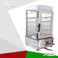 PKGM 500S Bun steamer microcomputer control hot showcase Automatic Energy efficient bun maker food warmers display cabinets