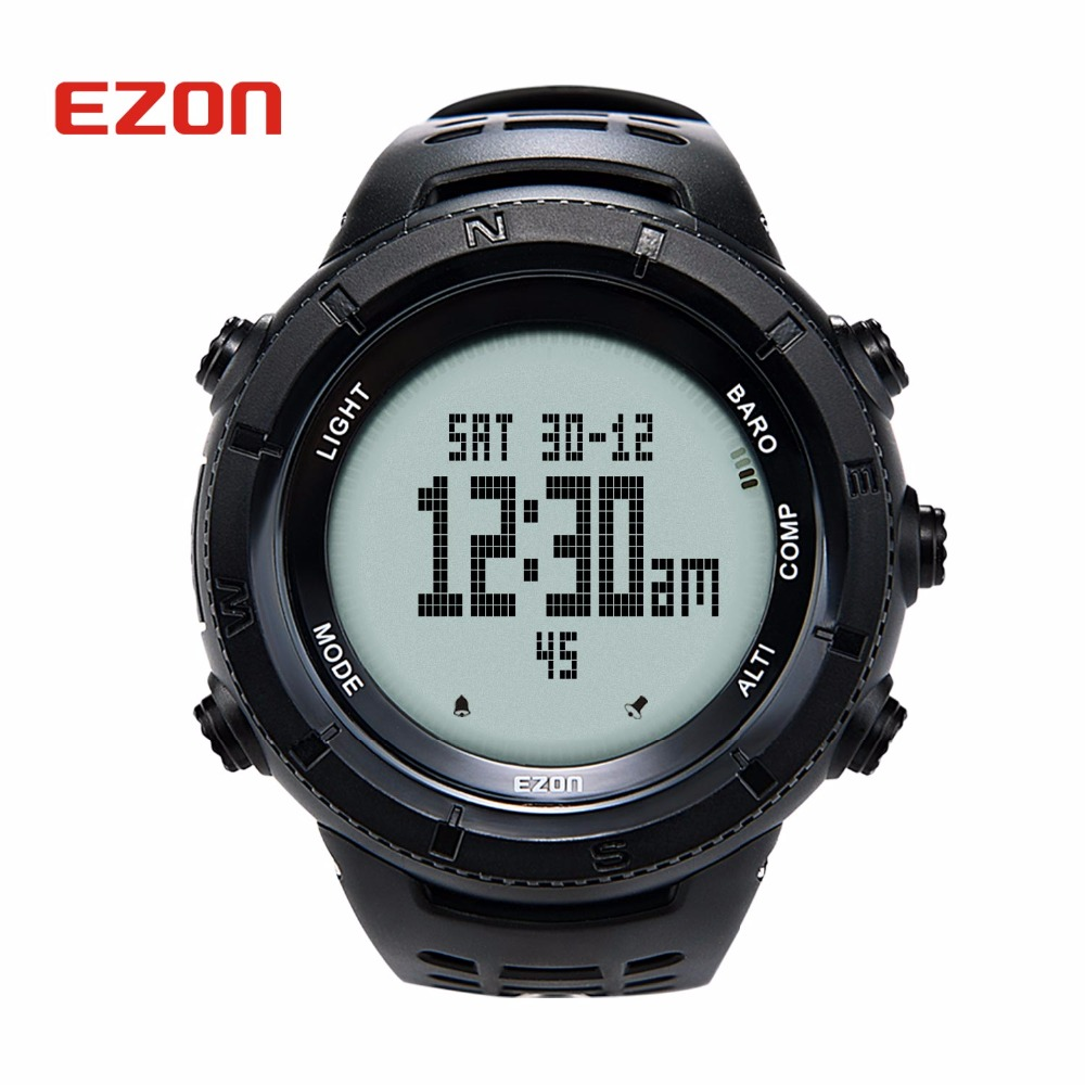 EZON многофункциональные походные часы мужские спортивные цифровые часы высотомер барометр компас термометр альпинистские наручные часы