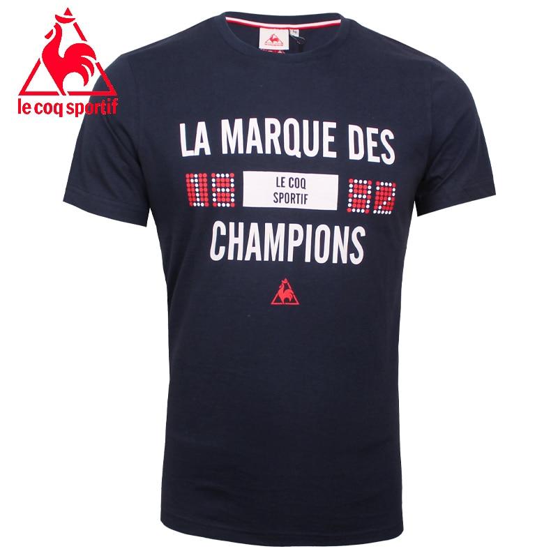 2017 le coq sportif t-shirt männer kurzarm t-shirt enge Kleidung T-shirt Homme...