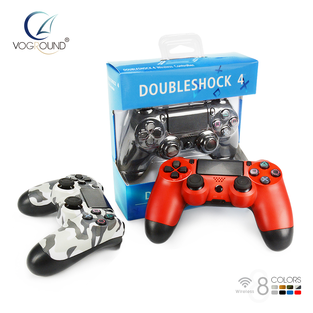 VOGROUND New Bluetooth Wireless Gamepad Controller For Sony PS4 Game Controller Vibration Joystick Gamepads For PlayStation 4 vibration joystick wired usb pc controller for pc computer laptop for winxp win7 win8 win10 for vista black gamepad