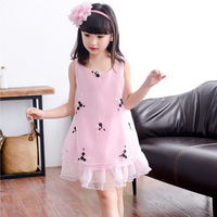 Fancy Baby Girl Clothes Dresses Summer 2017 Girls Princess Dress Children Clothes For 3 4 5 6 7 8 9 Years Old Kids