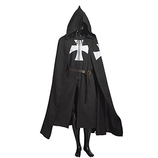 New MEDIEVAL CRUSADER KNIGHT TUNIC White Maltese X Warrior Costume