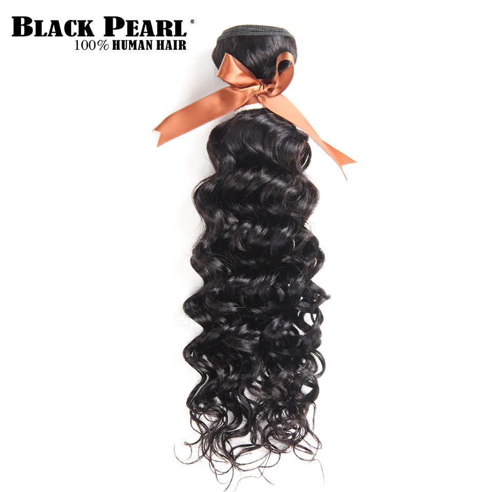 Blackpearl Peruvian Hair Bundles 100% Human Hair Weft Natural Color Water Wave Bundles 3 Piece 10-26 Inch Non Remy Hair