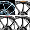 4pcs/set Quattro Mounting Rims Alloy Wheel Decals Stickers for Audi A4L A5 A6 A7 RS5 RS6 RS7 RS Q3