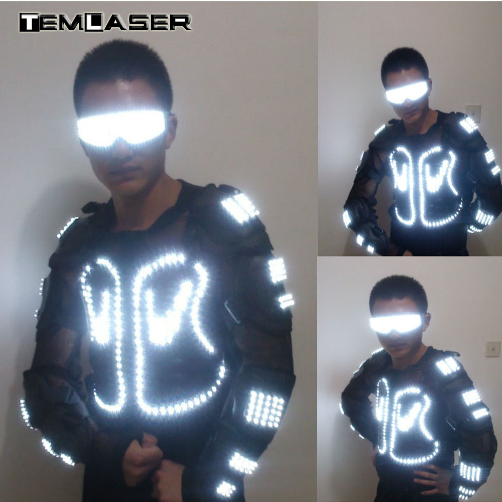 34abda26d3c 2018 Light up Plus Size Baseball Jacket Glowing Womens Mens Hooded Party Led  DJ Costume Coats Dancing Closthing