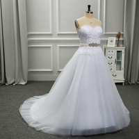Backlake Girls Hand Made High Quality A Line Strapless Lace With Appliques Waist Satin Saches Beads
