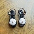 Новый бренд дизайн летние дети сандалии для девочек детей PU кожа цветок платье обувь повседневная девушки сандалии ЕС 26-30