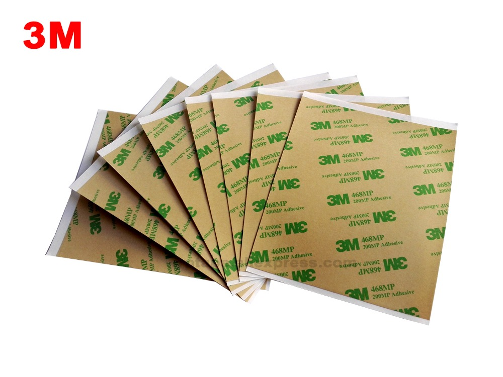 120mm*100mm 3M 468MP 200MP Double Sided Adhesive Sticker for Keyboard Rubber, Foam Phone Panel Screen Repair,Hi-Temp. Resist 1pcs 18mm x 5mm single sided self adhesive shockproof sponge foam tape 3 meters