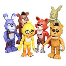 6pcs/set Five Nights at Freddy model Toys nights harem Fazbear Bear Action Doll pvc toy Figure Kids Gift