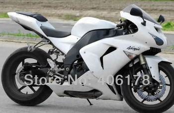 ZX-10R 2006 2007 Motorcycle fairings For Ninja ZX10R 06 07 White Sport Bike Fairing kit (Injection molding)