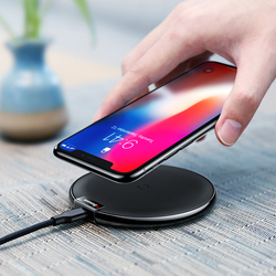 Baseus Wireless Charger QI Charging Pad For iPhoneX 8 Samsung Note8 S8 S7 S6 Edge Desktop Charger Fast Wireless Charging Charger