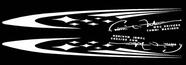 1 Pair Car Stickers WRC Famous Driver Tommi Makinen Decals Whole body Auto Tuning Styling Waterproof A Pair 150*20cm tommi kinnunen nelja tee rist sari moodne aeg