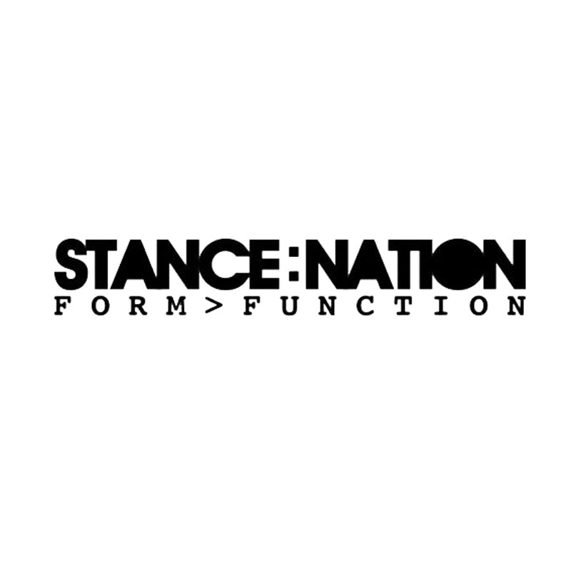 20.5*3.4CM STANCE NATION Car Window Decal Stickers Original Car Styling Sticker Accessories Black/Silver C9-0104