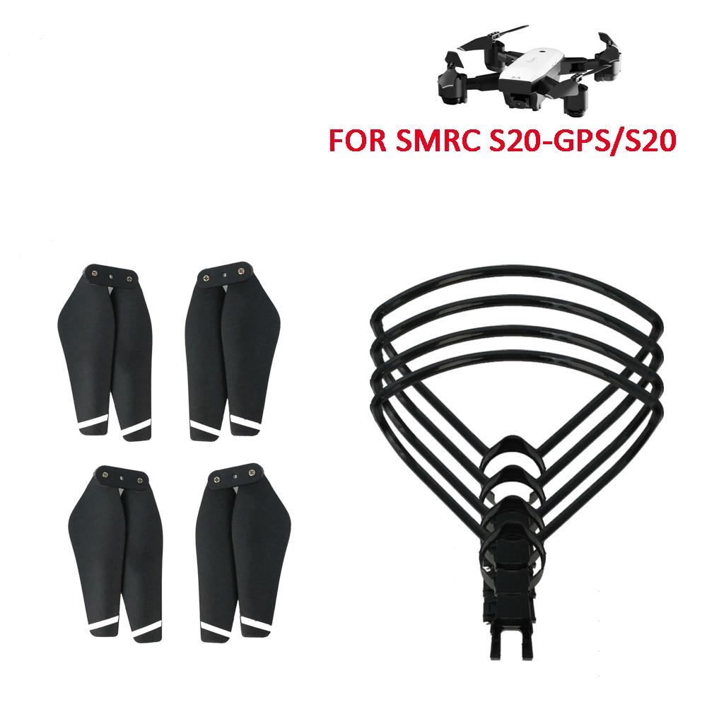 SMRC S20 Ersatzteile, 4 stücke Propeller, 4 stücke RC Propeller Protector Klinge Rahmen für SMRC S20 Drone Wifi FPV Drone RC Quadcopter