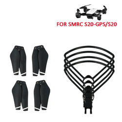 SMRC S20 Spare Parts, 4PCS Propeller, 4pcs RC Propeller Protector Blade Frame for SMRC S20 Drone Wifi FPV Drone RC Quadcopter