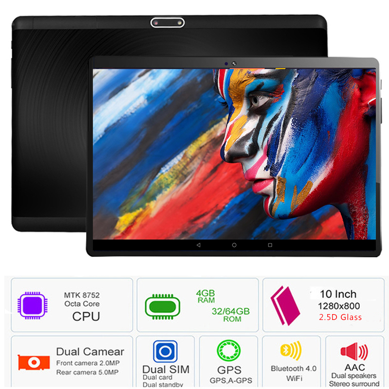 Super Tempered Glass 10 inch Tablet PC Android 8.0 4GB RAM 64GB ROM 5.0MP WIFI Octa Core 3G 4G LTE FDD 1280*800 IPS Tablet 10.1Super Tempered Glass 10 inch Tablet PC Android 8.0 4GB RAM 64GB ROM 5.0MP WIFI Octa Core 3G 4G LTE FDD 1280*800 IPS Tablet 10.1
