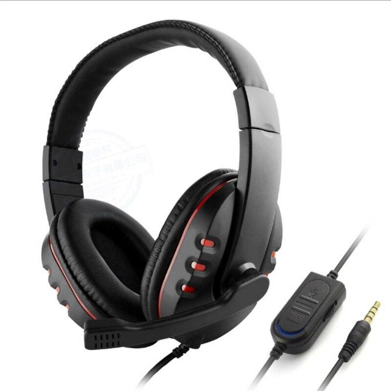 Stéréo Casque Casque Casque Deep Bass Computer Gaming Casque PS4 avec Mic pour PC Jeu Gamer Écouteurs