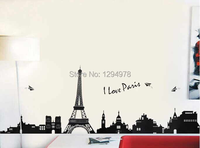 Eiffel Tower Wall Art eiffel tower wall 60cm promotion-shop for promotional eiffel tower