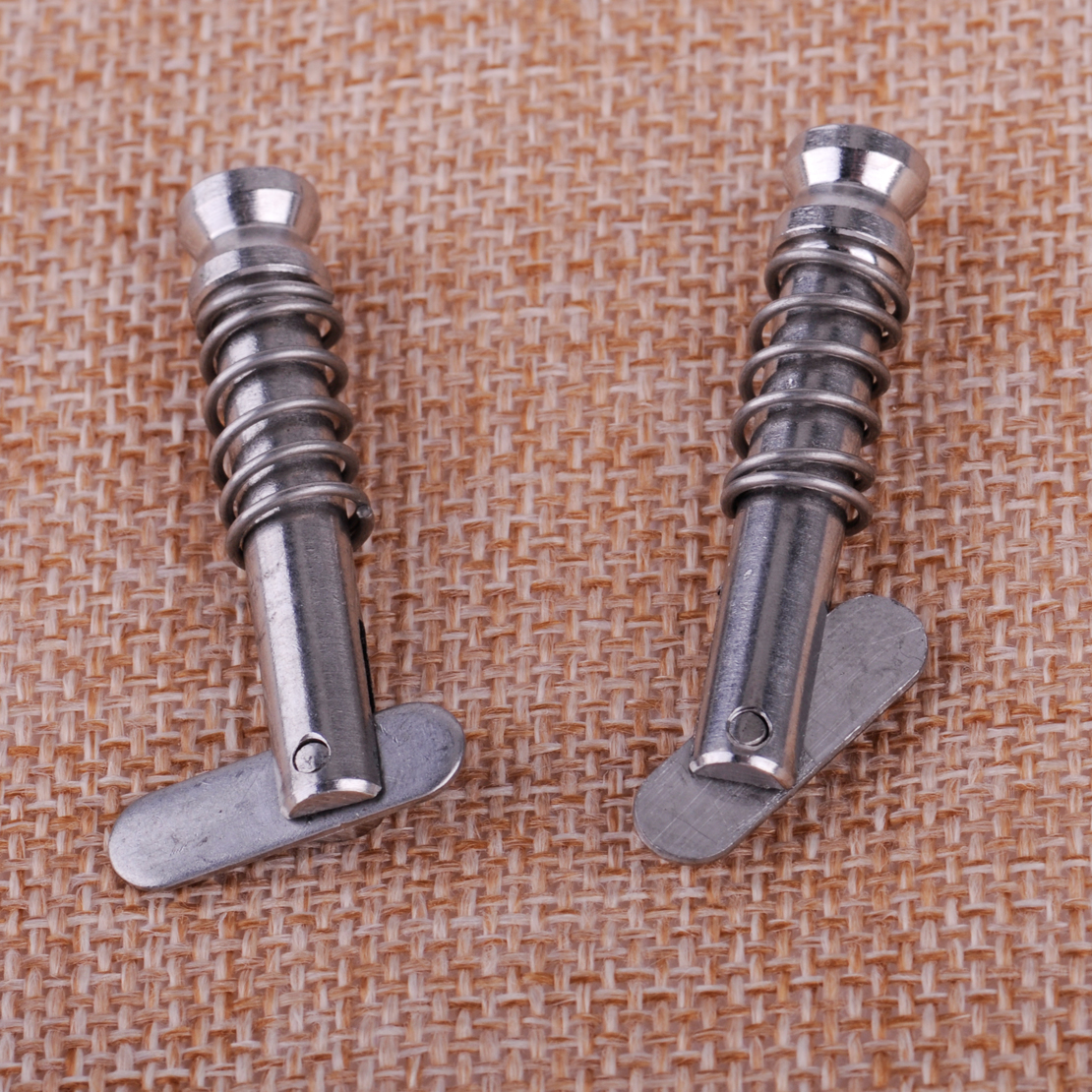 CITALL 2pcs Silver Metal Quick Release Pin Deck Hinge Boat Marine Yatchs Ships Hardware Fitting Parts