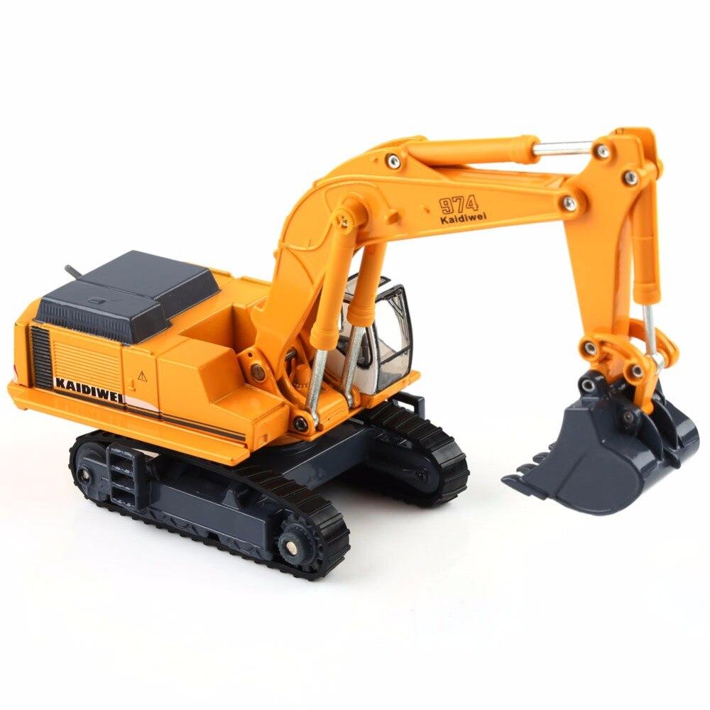 KAIDIWEI 1:87 Diecast Excavator Construction Equipment Model Kids Toys Gift 1/87 HO Scale