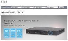 Dahua 5MP NVR4216 8CH/16CH/32CH NVR Vedio Recorder HDMI Onvif NVR4208 NVR4216 NVR4232 economical Dahua NVR Max 200Mbps incoming