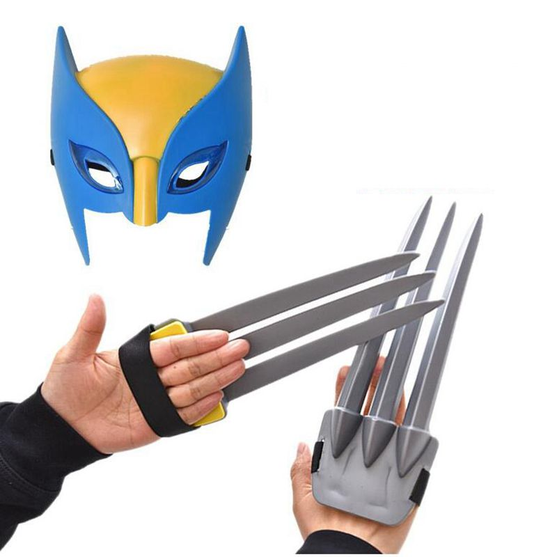 Superhero X-men Wolverine Weapons Toys Wolverine Claws Mask Cosplay ABS Plastic Action Figure Toys For Halloween Kids Gifts
