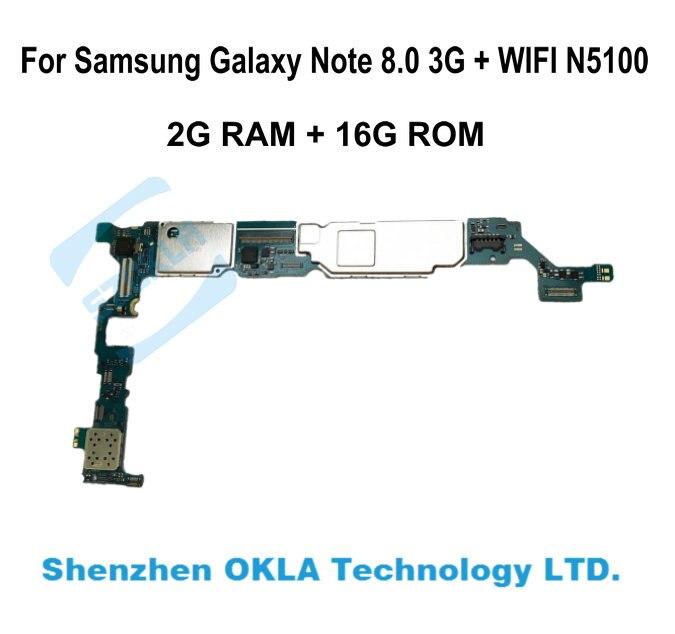 imágenes para 1 unids Para Samsung Galaxy Note N5100 8.0 2G RAM 16G ROM Motherboard Placa Lógica Reemplazo de teléfono original