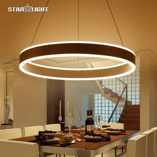 modern pendant lights for living room dining room circle ring, Deko ideen
