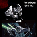 Beier 2016 new style 316L stainless steel Star Wars Darth Vader TIE fighter ring fashion jewelry BR8-260