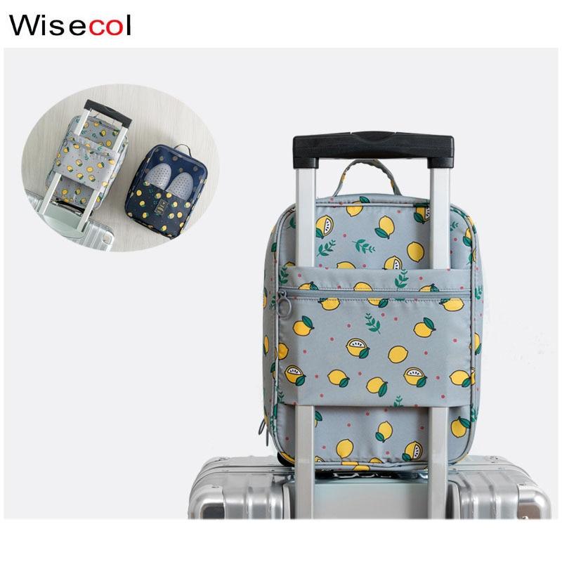 WISECOL Travel  Waterproof Shoe Bag Travel Accessories Bag Ventilation Organizer Portable Pluggable Luggage Shoe Bag