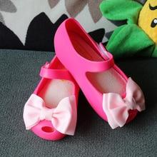 Girls Sandals Children'S Shoes Big Cloth Bow Mini Melissa Sandals Jelly Shoes Girls Princess Dance Ballet Shoes Melissa Sandals