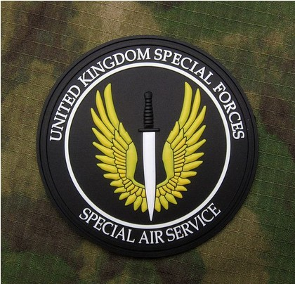 5pcs SPECIAL AIR SERVICE UNITED KINGDOM SPECIAL FORCES Badge PVC Rubber 3D Tactical Badge Military Armband Army Badge Wholesale