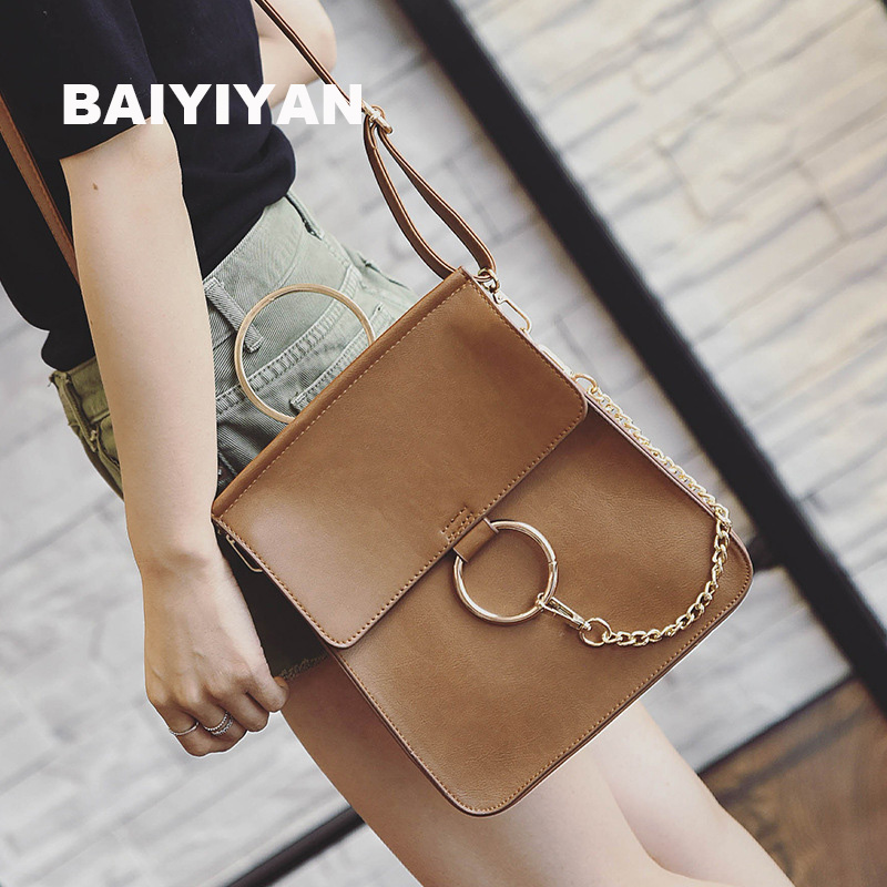2018 New Fashion Multi-functional Female Shopping Bag Hand bag Round Hasp Chains Shoulder Bag Fashion Backpack