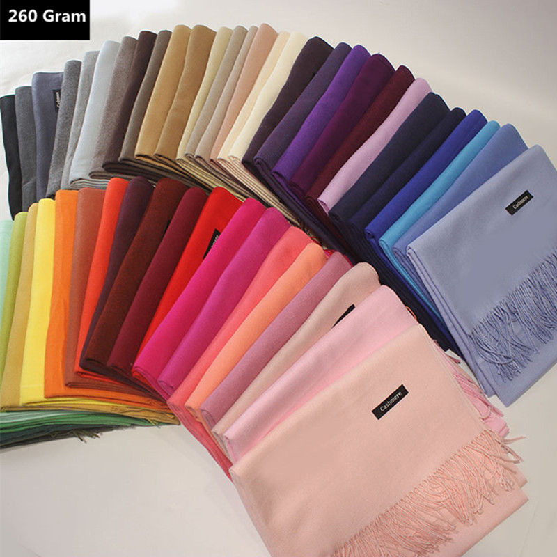 Luxury Scarf Women Winter New Fashion Lady Cashmere Scarfs Solid Color LongTassel Comfortable Elegant Pashmina Shawls  29 Colors