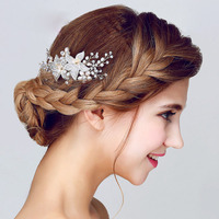 Yeni İnci Çiçek Gelin Headdress Saç Tarak El Yapımı Saç Süsler Kadın Gelinlik Aksesuarları Charm Kadınlar Güzel Takı