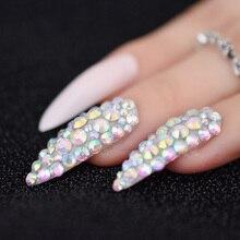 24 Extra Long Nail Pink Clear False Nails Tips Sharp end Stiletto Acrylic Artificial Fake Nail Decoration Tips Acrylic L5012