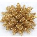 Hecho A Mano de lujo Dubai Oro Cristalino de la Flor Broche Broches Joyería Partido de Las Mujeres Al Por Mayor Más Colores Envío Libre BP007